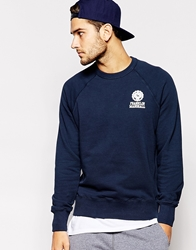 Franklin And Marshall Classic Crew Neck Sweatshirt Navy