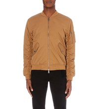 Criminal Damage Air Force Cotton Twill Bomber Jacket Sand