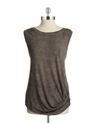 T Tahari Abby Knit Tank Black