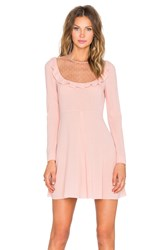 Red Valentino Sheer Yoke Mini Dress Pink