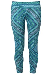 Prana Roxanne Tights Green Chile Turquoise