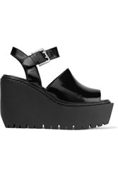 Opening Ceremony Luna Patent Leather Sandals Black