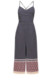 Glamorous Jumpsuit Navy Coral Multicoloured