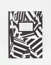 Paperchase Monochrome Abstract Notebook Multi