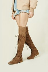 Forever 21 Faux Suede Over The Knee Boots