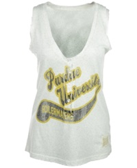 Retro Brand Women's Purdue Boilermakers Tailsweep Henley Top Gray
