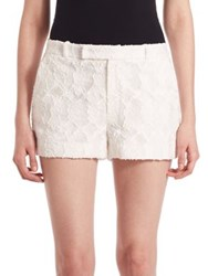 Prose And Poetry Ella Board Lace Shorts White Jaquard Window Pane Floral