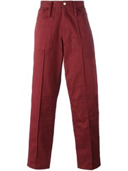Liam Hodges Patch Detail Jeans Red
