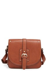 Sole Society 'Saylah' Structured Faux Leather Crossbody Bag Brown