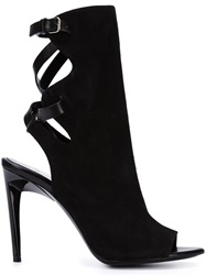 Proenza Schouler Cross Strap Booties Black