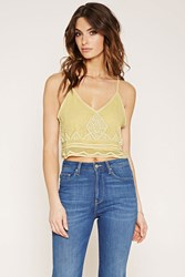 Forever 21 Beaded Crop Top