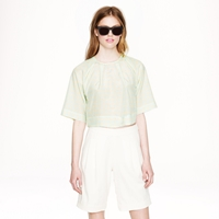 J.Crew Apiece Aparttm Roberta Crop Top In Mint Grid