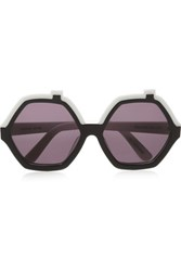 House Of Holland Roofies Round Frame Acetate Sunglasses Black