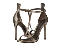 Rachel Zoe Tee Dark Pewter Metallic Snake High Heels
