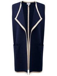 Pure Collection Wilson Sleeveless Waistcoat Navy Stone