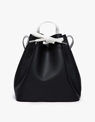 Pb 0110 Drawstring Bucket Bag Black Blue