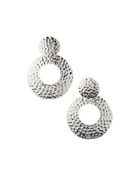 Rj Graziano R.J. Graziano Hammered Silvertone Drop Earrings