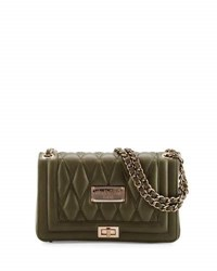 Valentino By Mario Valentino Alice D Quilted Leather Shoulder Bag Army Green