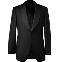 Gieves And Hawkes Black Shawl Collar Wool And Mohair Blend Dinner Jacket
