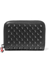 Christian Louboutin Panettone Spiked Leather Wallet Black