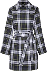 Mcq By Alexander Mcqueen Plaid Cotton Blend Trench Coat