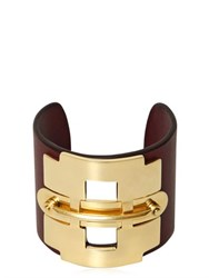 Tod's Leather And Metal Horse Bit Bracelet