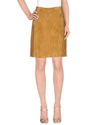 Stouls Skirts Knee Length Skirts Women Camel