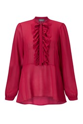 James Lakeland Frill Blouse Red
