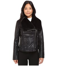 Blank Nyc Faux Shearling In Nap Champ Black Women's Clothing