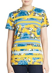 Marc By Marc Jacobs Jerrie Rose Tee Yellow Multi