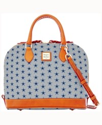 Dooney And Bourke Dallas Cowboys Zip Zip Satchel Gray