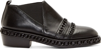 Christian Dada Black Chain Trim Western Shoes