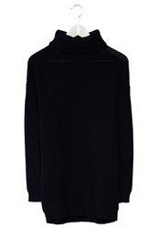 Selected Femme Firenze Turtleneck Jumper Sky Captain Dark Blue