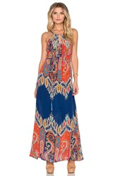 Tolani Stefani Maxi Dress Blue