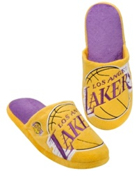 Forever Collectibles Men's Los Angeles Lakers Big Logo Slippers Purple Gold