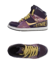 Etnies High Top Sneakers Purple