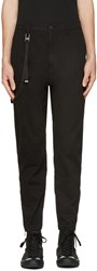 Helmut Lang Black Curved Leg Trousers