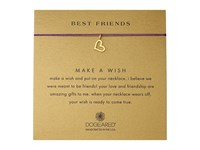 Dogeared Best Friends Heart Make A Wish Necklace Gold Dipped Amethyst Necklace