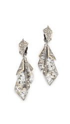 Alexis Bittar Layered Origami Earrings Antique Silver