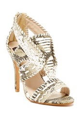 N.Y.L.A. Whipstitched High Heel Sandal Multi
