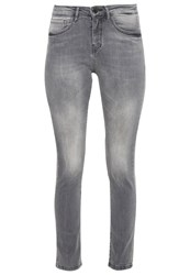 Opus Emily Slim Fit Jeans Light Grey