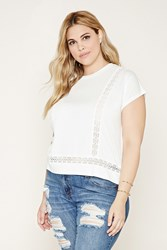 Forever 21 Plus Size Crochet Panel Top