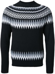 Bedwin And The Heartbreakers Fair Isle Knit Jumper Black