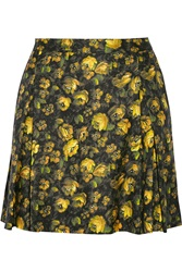 Band Of Outsiders Floral Print Silk And Wool Blend Skirt
