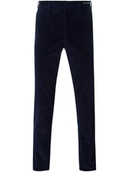 Pt01 Corduroy Slim Fit Trousers Blue
