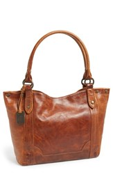 Frye 'Melissa' Washed Leather Tote Brown Cognac