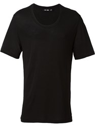 Blk Dnm Scoop Neck T Shirt Black
