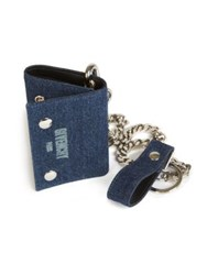 Givenchy Denim Chain Trifold Wallet Blue Denim