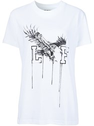 Off White 'Eagle' Print T Shirt White