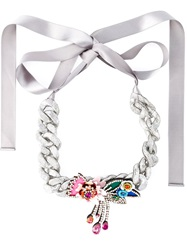 Shourouk 'Flower Chain' Necklace Metallic